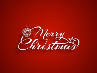 Beautiful Merry Christmas vector card design.
