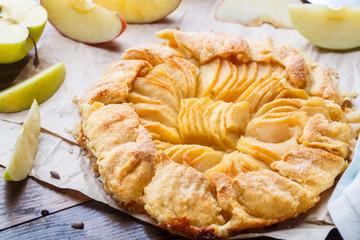 Homemade fresh apple galette