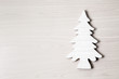 Wooden Christmas background with tree