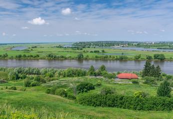 Oka river near Spassk-Ryazansky town. Central Russia