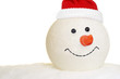 Snowman head with hat