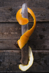 Peel an orange