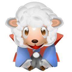羊 子供 お辞儀 着物 イラスト