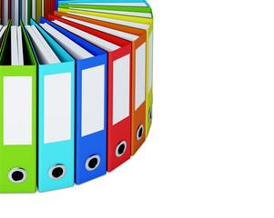 Part of multicolored folders