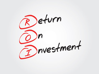 Hand drawn Return On Investment (ROI) vector concept
