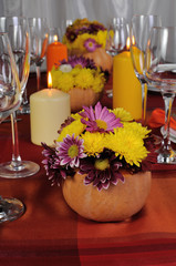 Motives of autumn in the design of the dining table