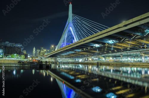Fotobehang Brug zakim bridge