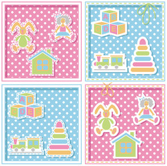 children's background with toys