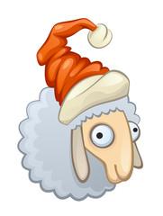 Ewe in hat