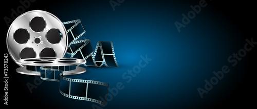 pellicola, cinema, film, fotogrammi, rullino poster