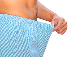 man in panties looking for something