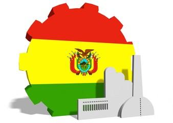 ecuador flag on gear and factory icon