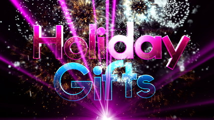 Christmas gifts on TEXT background 3