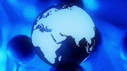 Animated globe world background