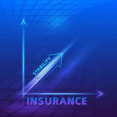 stability-risk-concept-insurance-light-blue-background