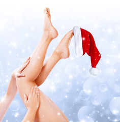 legs beauty treatment of christmas
