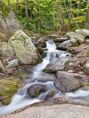 Beautiful stream on Pelion mount near Zagora village, Greece