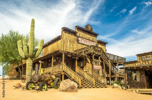 Leinwandbild Motiv Saloon