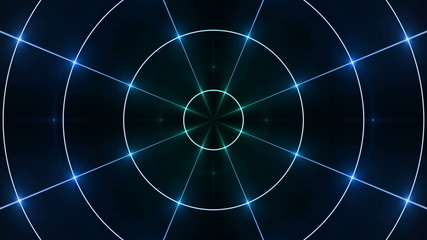 abstract loop motion background, circle blue light