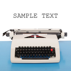 Retro style typewriter with space for your text.