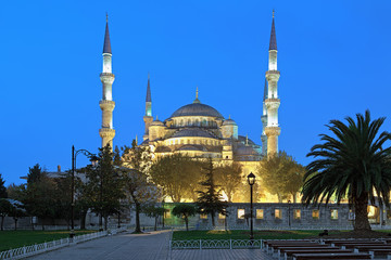 Sultan Ahmed Mosque in early morning, Istanbul, Turkey