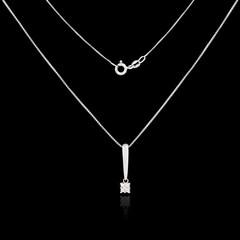 Diamond necklace isolated on black background