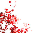 star shaped red confetti