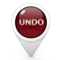 undo pointer icon on white background