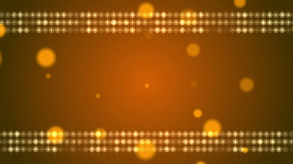 gold background and frame, loop