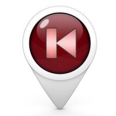 prev pointer icon on white background
