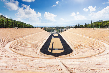 Top view of Panathenaic Stadium in Athens