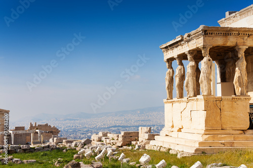 Fotobehang Athene Beautiful view of Erechtheion in Athens, Greece