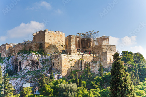 Fotobehang Athene Acropolis of Athens, view from Areopagus in summer