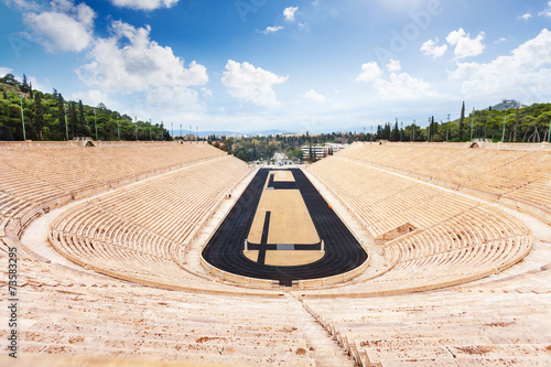 Plexiglas Athene Top view of Panathenaic Stadium in Athens