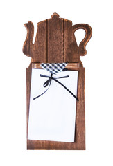 Wooden board with empty blank for your text