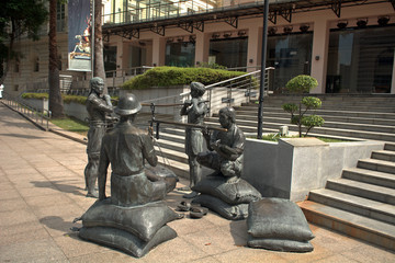 Colonist statue, Singapore