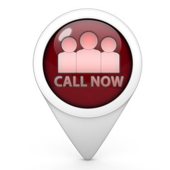 call now pointer icon on white background