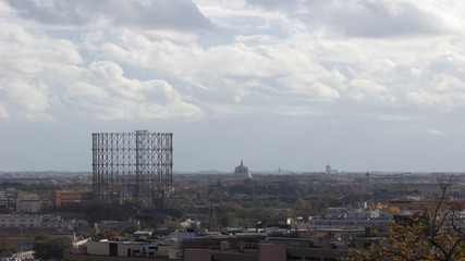 time lapse of the old gasholder in Rome, Italy
