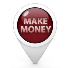 Make money pointer icon on white background