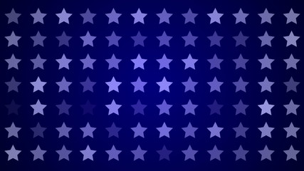 stars and blue background, loop
