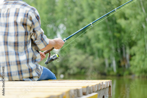 canvas print picture Summer fishing