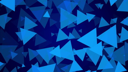 blue background, particle triangle, loop