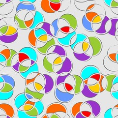 Seamless multicolored circle patterns