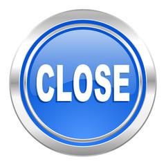 close icon, blue button