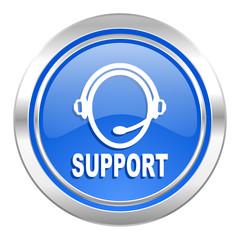 support icon, blue button