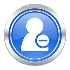 remove contact icon, blue button