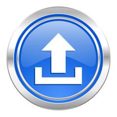 upload icon, blue button