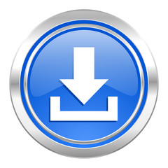 download icon, blue button