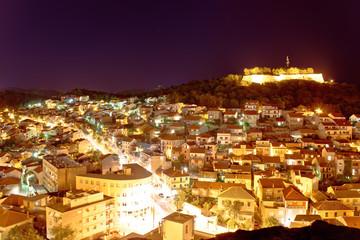 Adriatic town of Sibenik night view