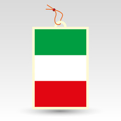 vector simple italian price tag - symbol of made in italy